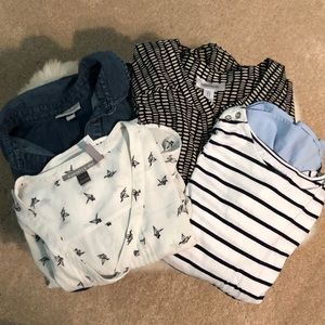 Lot of 4 dressy & casual maternity tops